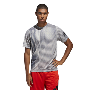 Adidas Men Tshirt Training Freelift Sport Heather Strong Graphic Tee DU1470 Gym