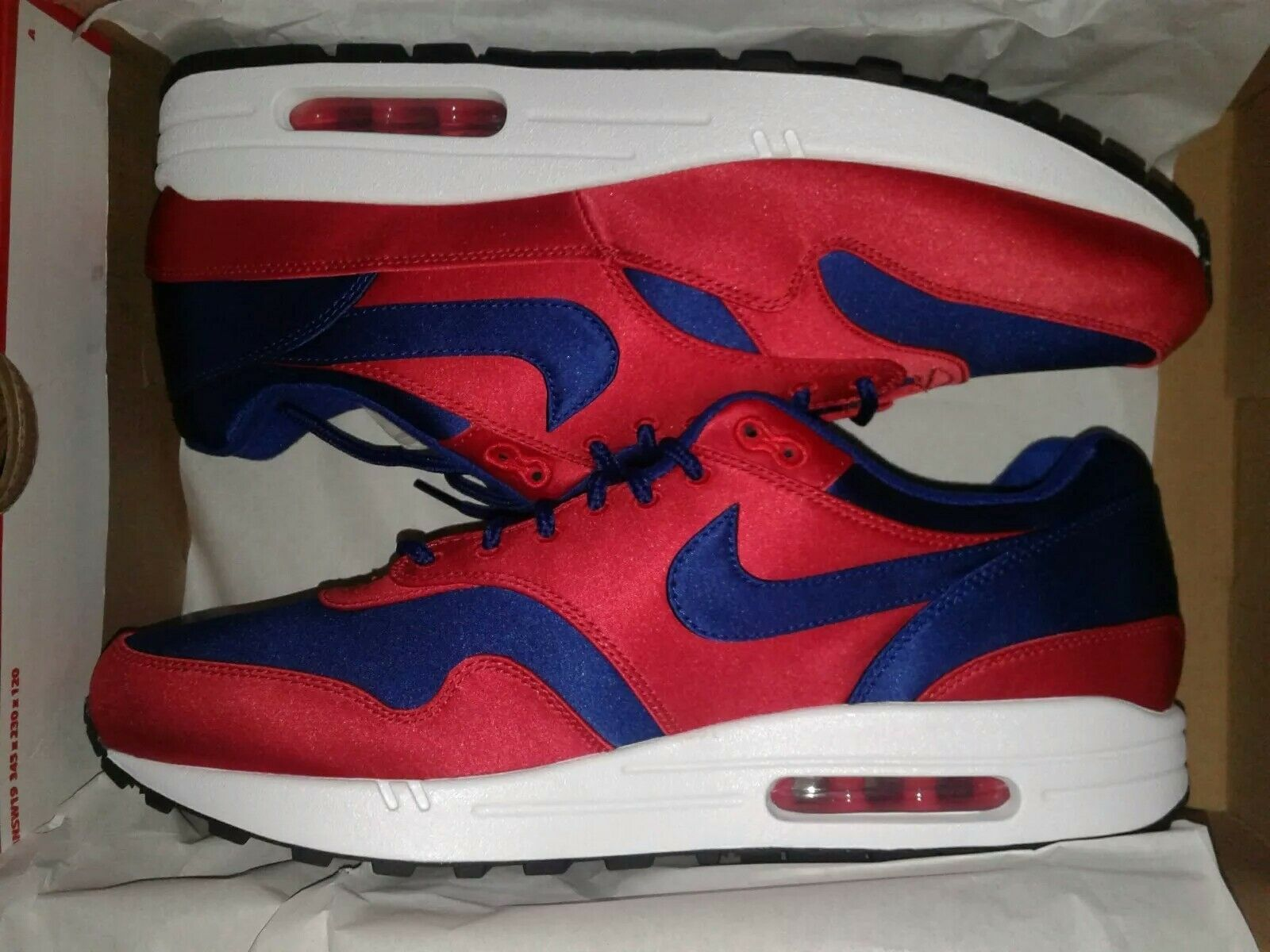 Nike Air Max 1 SE University Red Deep Royal blueee AO1021-600 Men's Size 11.5