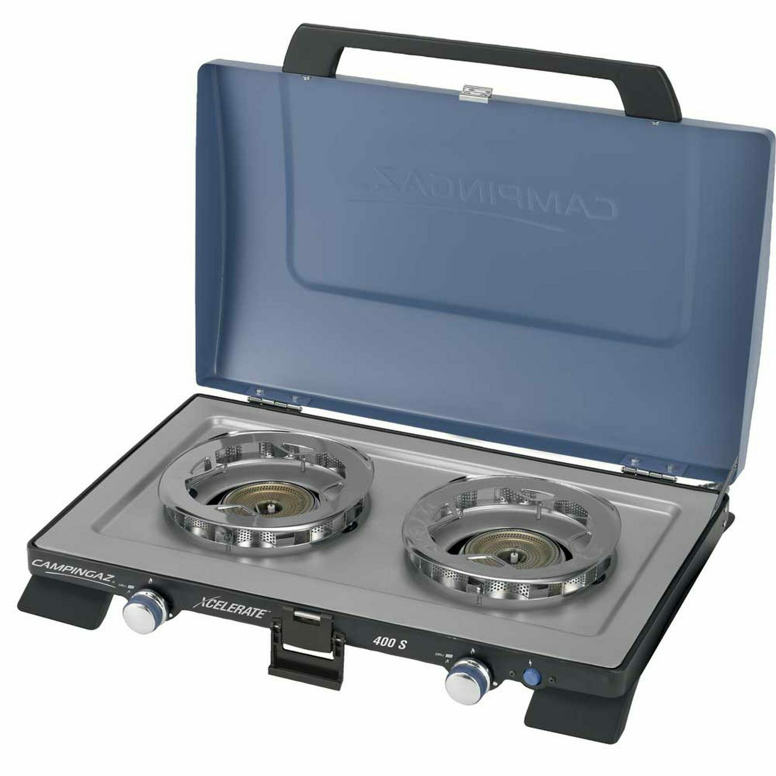 Stove with Burner Xcelerate, 2 Flames with Piezoelectric Ignition and cope