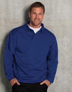 Das Bild wird geladen Herren-Arbeitspullover-Sweatshirt-mit-Kragen-Pullover- Ubergroesse-S- 0945db2400