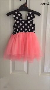 Kids-Girls-Summer-Sleeveless-Minnie-Mouse-Dress-Size-3-Coral