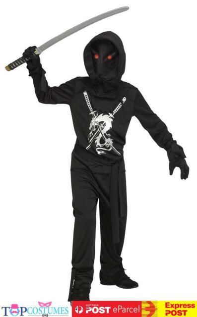 Fade in Out Ninja Boys Child Costume Halloween Demon Kids Warrior Martial