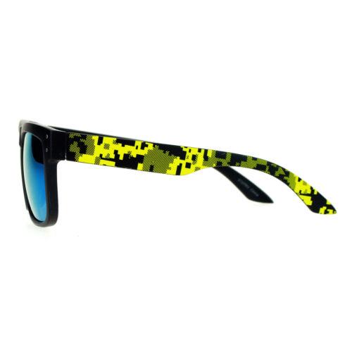 Square Rectangular Sunglasses Unisex Matted Frame Digital Pixel Print