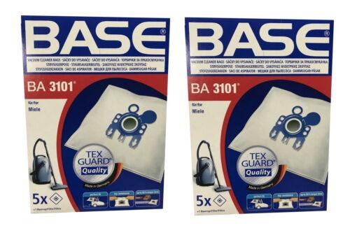 10 pezzi base BA 3101 Sacchetto per Aspirapolvere Sacchetti Polvere Per MIELE S serie H G N