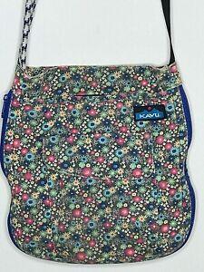 Kavu rope bag Keepalong pink blue pattern floral purse crossbody travel hiking