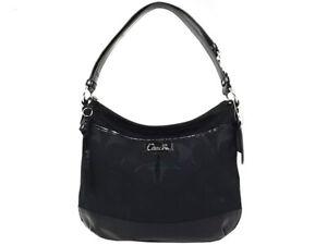 NWT-338-COACH-Park-Signature-Duffle-Leather-Black-Shoulder-Bag-Crossbody-NEW