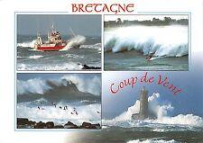 B51581 Quand le vent se leve la vague se redresse ship bateaux Bretagne   france