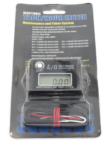 Digital Tachometer Hour Meter for 2 /& 4 Stroke Spark Small Gas Engines Motors