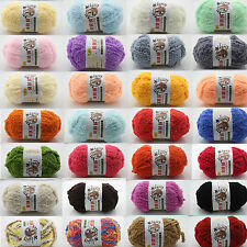 50g Super Soft Natural Smooth Chunky Acrylic Knitting Cole Yarn Ball New