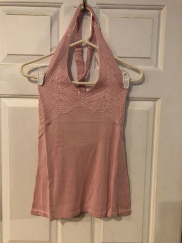 MELODY THOMAS SCOTT WOMEN/'S PINK KNIT SILK//RAYON HALTER TOP SIZE S NWT