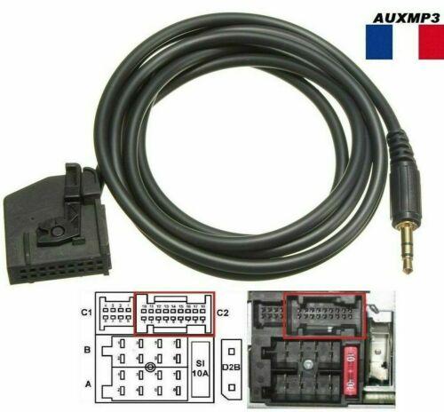 Cable auxiliaire aux adaptateur mp3 pour autoradio Mercedes Classe CLK W208