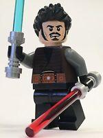 Lego Star Wars Jedi Gray Grey Jedi Sith Acolyte Male Custom 100% Lego Parts