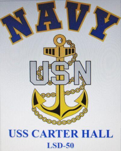 USS CARTER HALL  LSD-50* LANDING SHIP DOCK* U.S NAVY W// ANCHOR* SHIRT