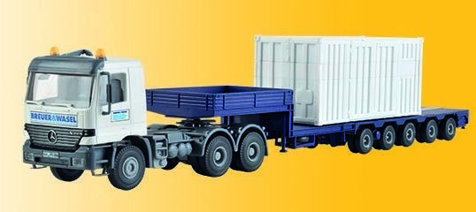 H0 MB ACTROS begleittransporter For LG 1550 B & W Kit 1 87, Kibri 13057