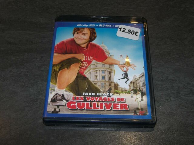 BLU-RAY 3D + BR + DVD LES VOYAGES DE GULLIVER 20 TH COMPLET OCCASION