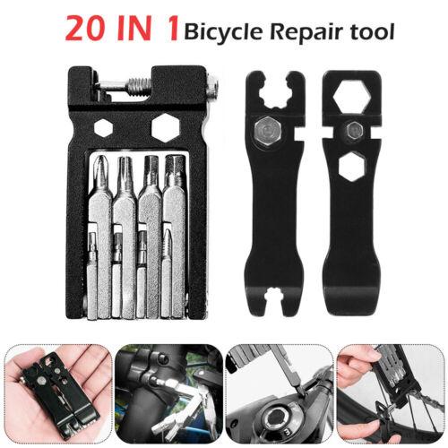 20 en 1 vélo Outils de Réparation Portable Vélo Réparation Outils de poche multi fonctionnelle Kit