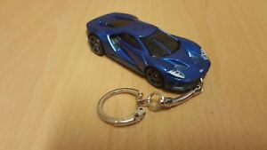 Image Is Loadingcast  Ford Gt Blue Toy Car Keyring