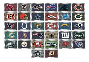 NFL-Football-Decal-Sticker-Metal-Plate-Design-Licensed-Choose-from-all-32-Teams