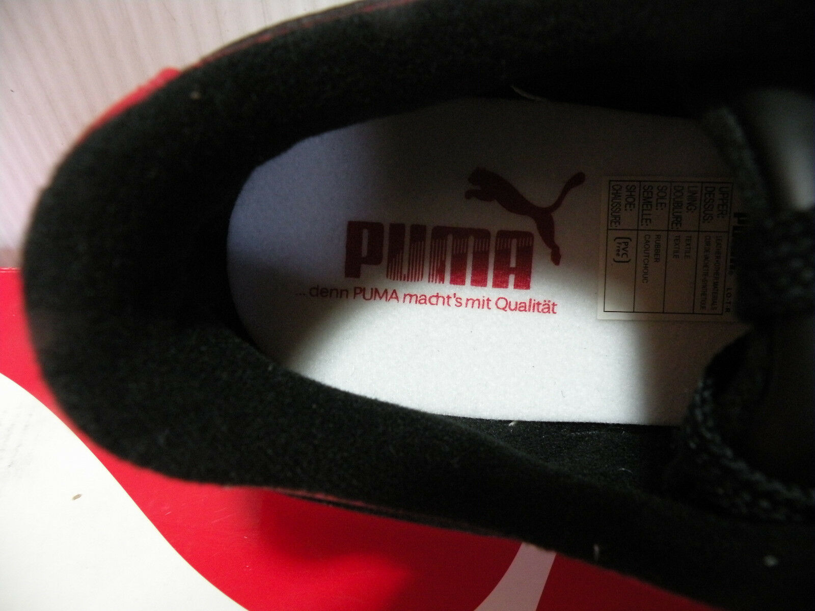 PUMA SKY II + + + CLASSIC LOW zapatillas MEN zapatos rojo negro 343753-08 Talla 7.5 NEW 208f64