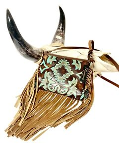 Raviani-Crossbody-Fringe-bag-in-Turquoise-amp-Brown-Cowhide-Leather-MADE-IN-USA