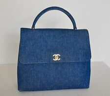 CHANEL Vintage Denim Tote Bag