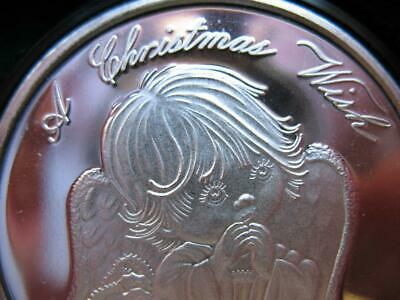 GOLD 1-OZ.CUTE 2018 CHRISTMAS  ANGEL TREE ENGRAVABLE GIFT BOX .999  SILVER COIN