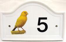 Canarie Numero Di Porta Casa Placca Insegna Per Qualsiasi Decorato in UK