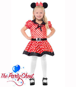 GIRLS-CUTE-MISS-MOUSE-COSTUME-Child-Polka-Dot-Mouse-TV-Fancy-Dress-Outfit-26858