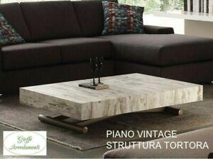 Tavolo Tavolino Trasformabile In Legno Saliscendi Nuovo Modello Allungabile 757 Ebay