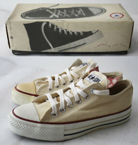 Details about VINTAGE 80'S CONVERSE CHUCK TAYLOR ALL STAR CANVAS USA IN BOX EUR 38 US 5 NEW !