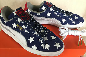 Image is loading Puma-Suede-Classic-Patriot-36209701-Stars-Stripes-Sneakers-