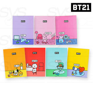 BTS-BT21-Official-Authentic-Goods-Diary-B-Ver-7Characters-130x180x15mm-Track
