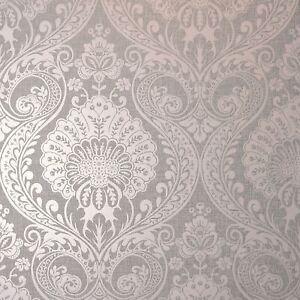 Luxe Damask Wallpaper Dusky Pink Arthouse 910306 New Ebay
