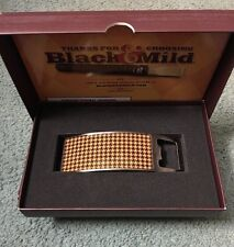 Collectible Black and Mild Promotion Curved Metal Houndstooth Beer Bottle Opener