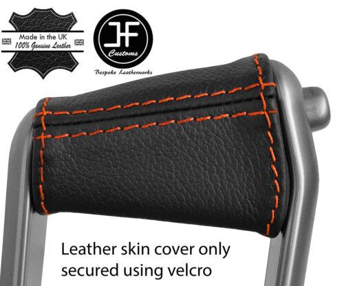 Orange Stitch Frein à Main Poignée Couverture en cuir pour RENAULT MEGANE 02-08 Style 2