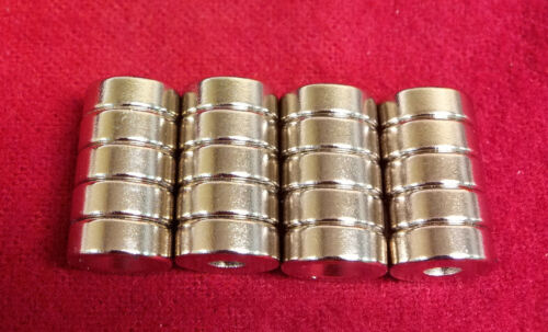20x Strong Countersunk Ring Magnet 15 x 5 mm Hole 4 mm Rare Earth Neodymium 5/8""