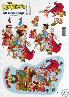 Flintstones Presents Christmas Decoupage Sheet