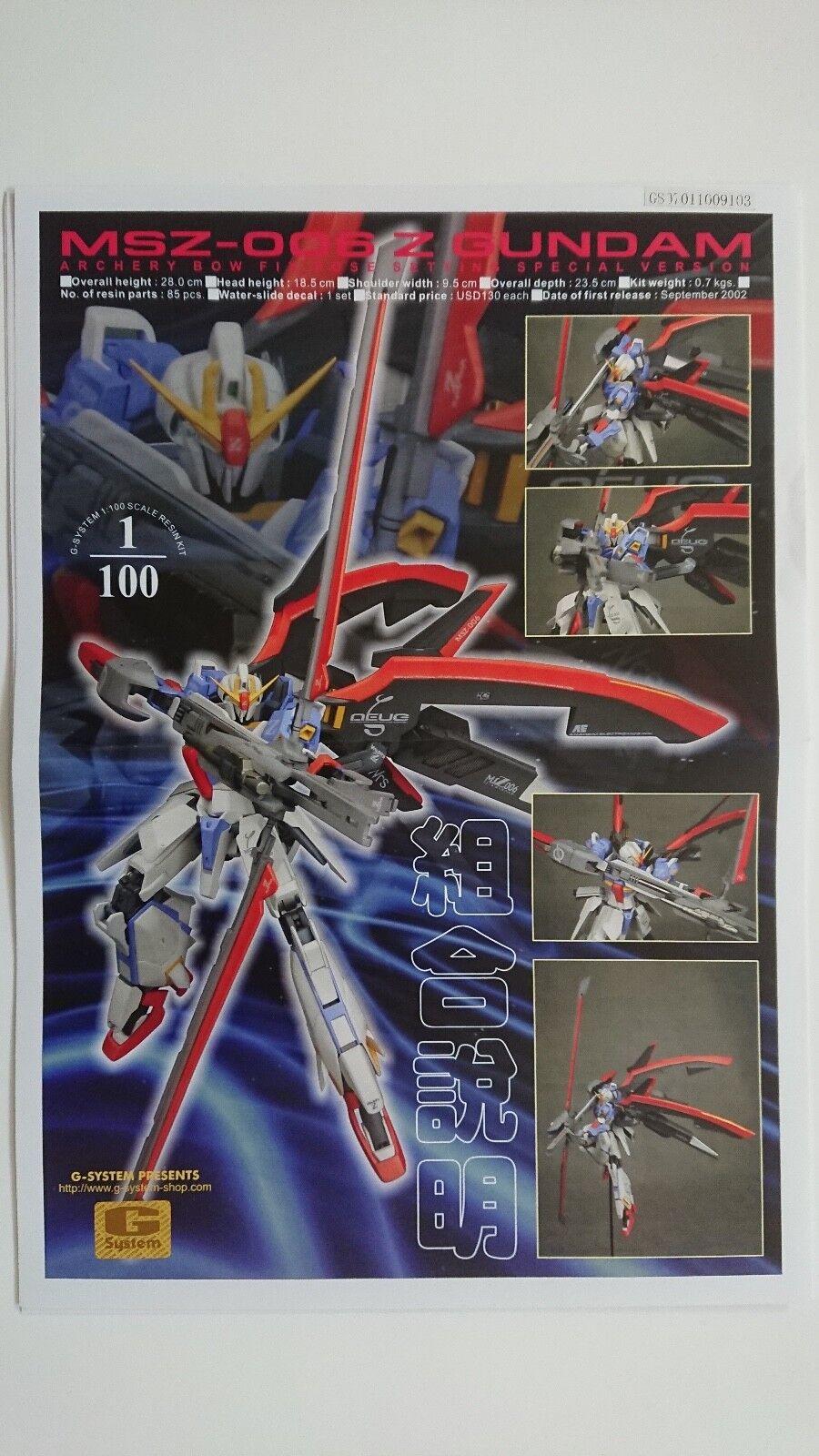 G-System MSZ-006 Zeta Gundam 1/100 resin model kit