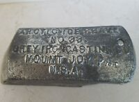 Old Vintage Antique Ice Shave Shaver #33 Iron Casting Co. Mount Joy,Pa