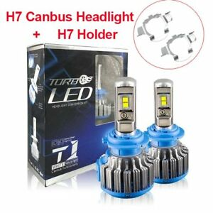 2pcs Car H7 Canbus LED Lamp Headlight Kit Cool White 70W 8000LM Beam Bulbs 6000K
