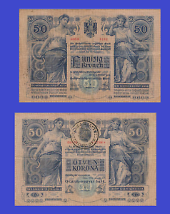 Hungary 50 korona 1902 UNC Reproduction