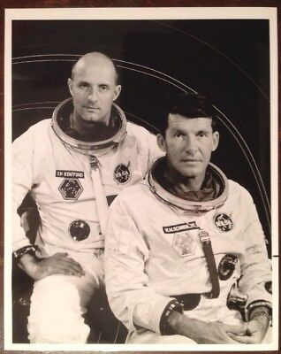 Nasa Gemini 6 Tom Stafford Wally Schirra Vi 1965 8x10 B&w Photo 65-h-1567 Purple Exquisite (In) Workmanship
