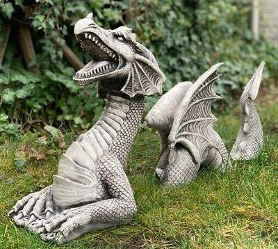 Large Dragon Statue Concrete, Large Dragon Garden Statues Uk