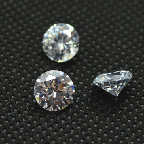 0.70ct Round Cut Clear Simulated Loose Diamond VVS1-D 5mm Each-1 Pcs For Auction