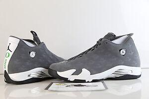 4a4f07d82ea3 Nike Air Jordan Retro 14 Oregon Ducks PE Grey White Lux Suede Promo ...
