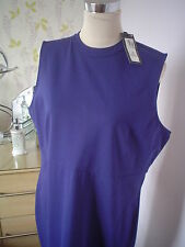 M&S DRESS SIZE 20 WITH STRETCH RICH BLUE WEDDING MOTHER OF THE BRIDE NEW £29.50