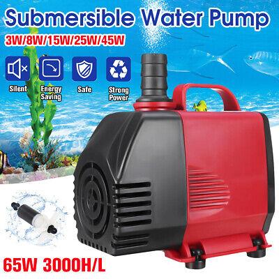 220V Submersible Water Pump Fish Tank Aquarium Pond Fountain Spout Feature Pump