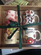 BRAND NEW BOXED Set of 4 KOREAN collectable ESPRESSO cups RARE STARBUCKS coffee