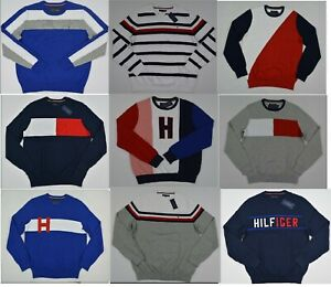 NWT-Men-039-s-Tommy-Hilfiger-Crew-Neck-Pullover-Sweater-XS-S-M-L-XL-XXL