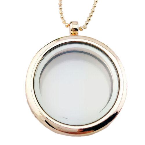 Vida especial memoria de cristal ronda medallón encantos collar colgante